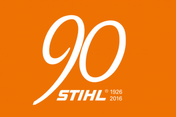 90 Years of STIHL logo 1926-2016