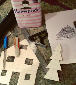 How to make a gingerbread house - step 1