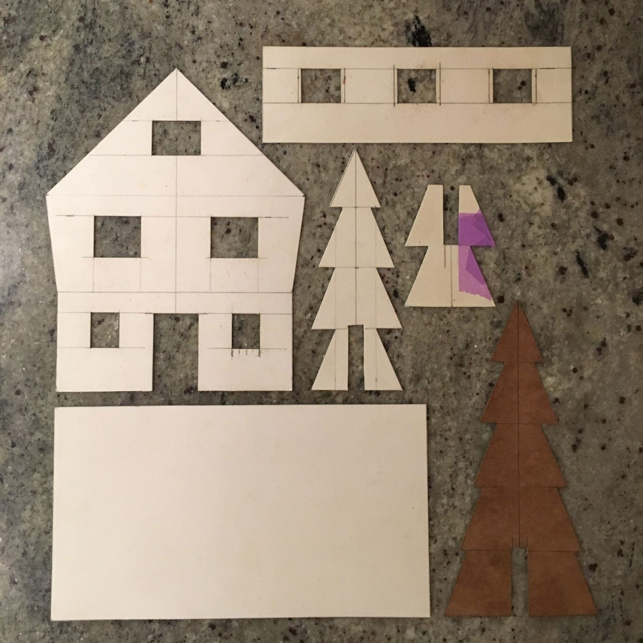 How to make a gingerbread house in the woods - step 2
