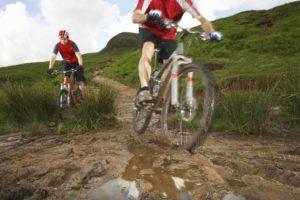 Pressure washer clean bike