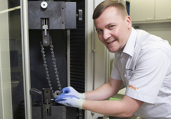 How is a STIHL saw chain made?