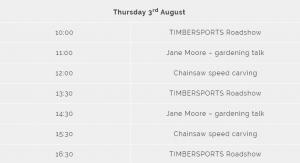 STIHL Countryfile Timetable