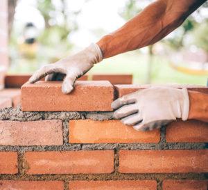 brick built raised bed