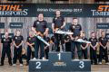 Elgan Pugh is top of the tree for the third time at STIHL TIMBERSPORTS 2017 British Championship