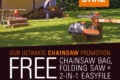 £95 worth of free accessories in the Ultimate Chainsaw Promotion