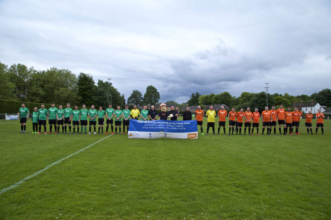 STIHL Charity Football MAtch For Surrey Young Carers