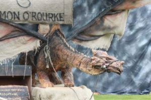 Hemlock Dragon Wood Carving By Simon O'Rourke