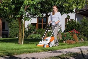 RMA 235 Cordless Lawn Mower In Use
