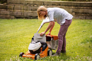 STIHL battery-powered cordless mower