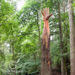 Simon O'Rourke Giant Hand Wood Carving