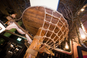 Crows Nest Wood Carving at Southampton Steak and Art