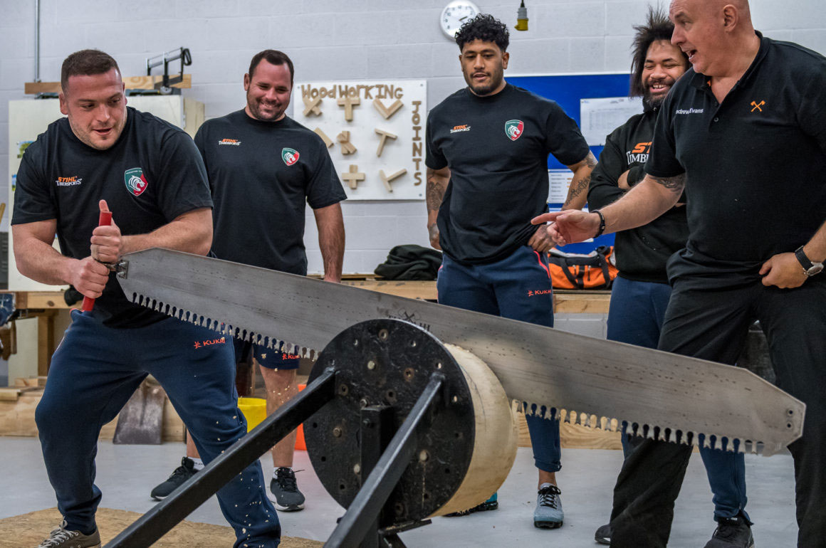 Leicester Tigers use STIHL Cross Cut Saw