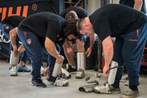 Leicester Tigers gear up in PPE at TIMBERSPORTS®