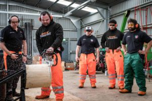 Tigers use MS 661 petrol chainsaw for Stock Saw discipline event.