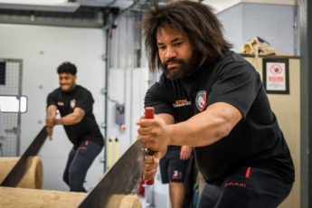 The tigers take on STIHL TIMBERSPORTS challenges