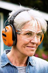 STIHL Dynamic BT Ear Protectors In Use