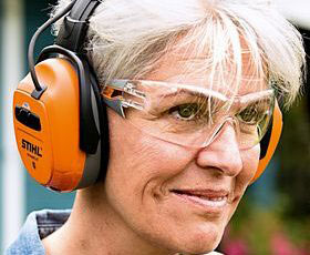 STIHL Dynamic BT Ear Protectors In Use