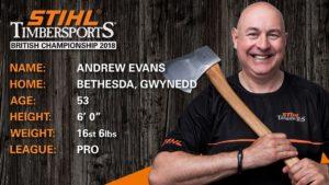 "Andrew ""Taff"" Evans STIHL Timbersports Championship Bio"