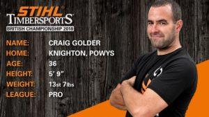 Craig Golder STIHL Timbersports Championship Bio
