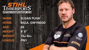 Elgan Pugh STIHL Timbersports Bio