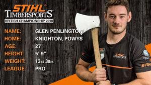 Glen Penlington STIHL Timbersports Bio