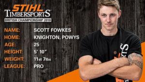 Scott Fowkes STIHL Timbersports Bio
