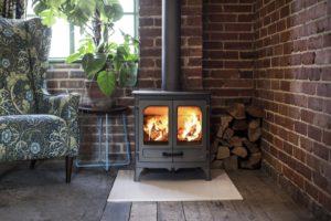 Log-burning stove