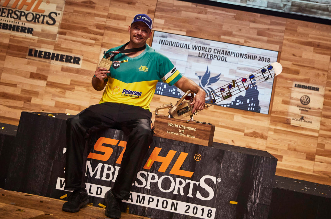 Laurence O'Toole TIMBERSPORTS World Champion
