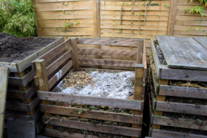 Wood ash on compost