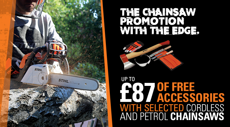 Chainsaw Promotion With Free Accessories