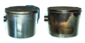 Piston with HP Ultra oil vs Piston with standard HP oil