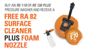Free RA 82 Surface Cleaner & Foam Nozzle Offer