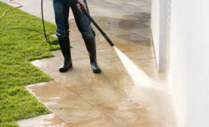 Cleaning a Patio
