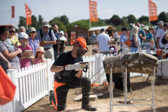 STIHL product demonstration at countryfile in 2018
