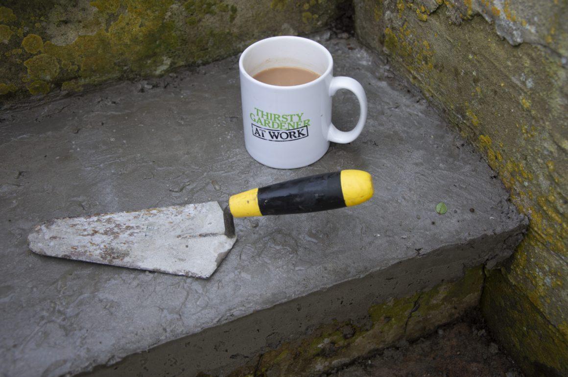 fixing a garden step