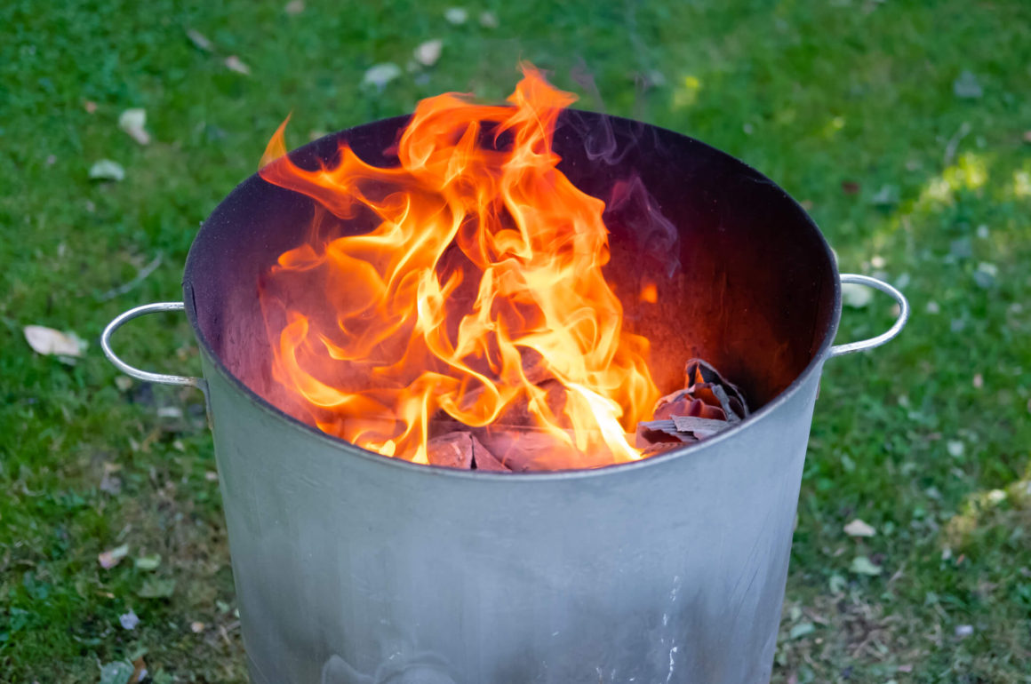 How to make a home made fire brazier
