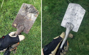cleaning your garden tools