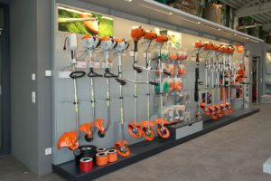 STIHL Dealer brush cutter display