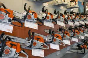 STIHL Dealer chainsaw display