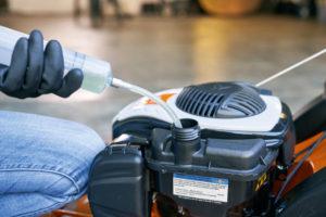 refuel your petrol lawn mower