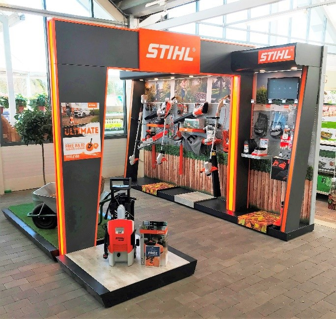 STIHL Dealer with cordless garden tools