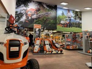 STIHL dealer with cordless lawn mowers