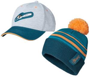 STIHL blue kids baseball cap and beanie