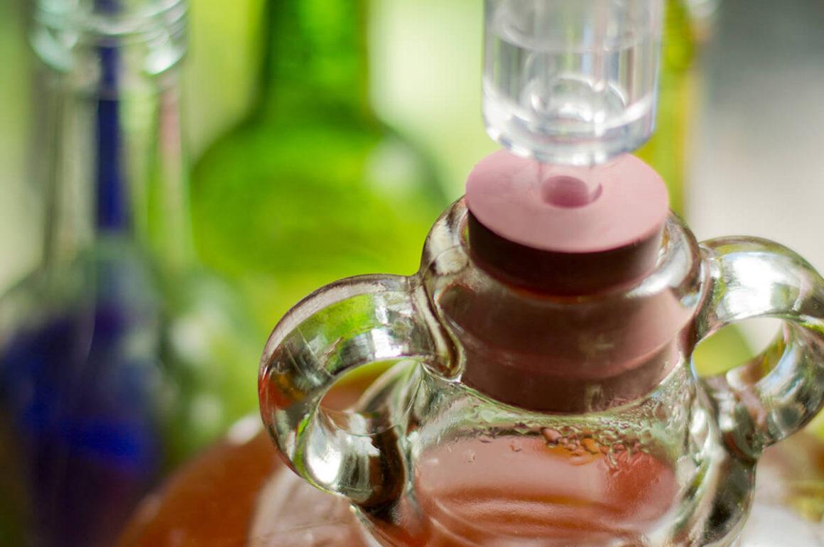 Cider in bottle