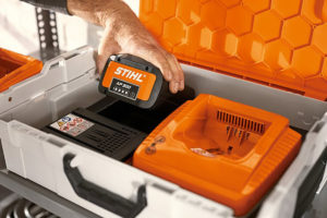 store your power tool batteries in our STIHL battery box