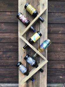completed beer rack