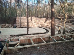 Thorington Theatre was built with the help of a STIHL cordless chainsaw