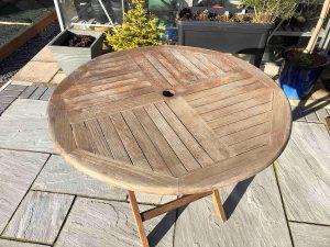 worn out garden furniture