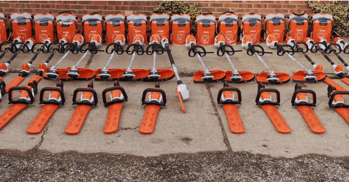 RFT Services fleet of STIHL cordless tools