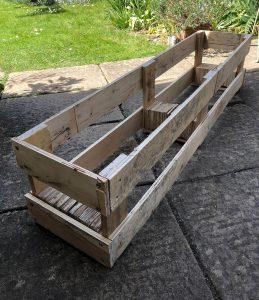 DIY pallet planter without soil or plants